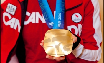Photo by Crystal Puim Viviane in Canadian jacket with & Gold Medal